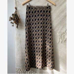 Vtg Autumn Maxi Skirt